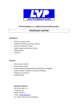 LVP Automation s.r.o. / Projektant elektro