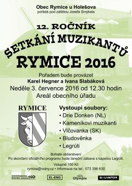 Plakát - Obec Rymice