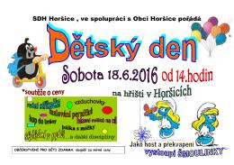 Dětský den v Horšicích- 18. června [ PDF, 123 kB ]