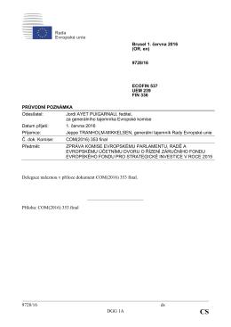 9728/16 ds DGG 1A Delegace naleznou v příloze dokument COM