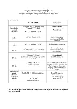 Állategészségügyi protokoll