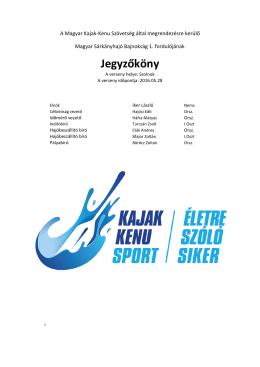 Jegyzőkönyv - Magyar Kajak