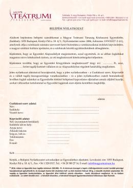 Belépési Nyilatkozat_2016