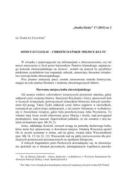 D. Zalewski, Domus
