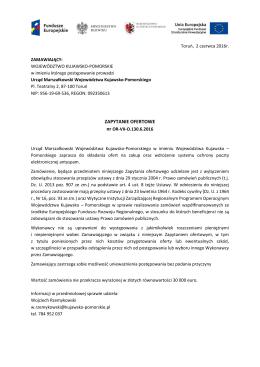 zapytanie ofertowe - BIP Urzędu Marszałkowskiego Województwa