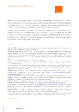 regulamin promocji migracyjnej dla klientów Muzyka