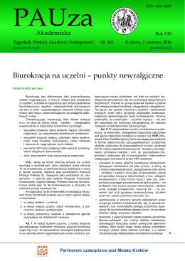 Biurokracja na uczelni – punkty newralgiczne