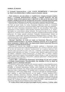 DOBRZE, ŻE BĘDZIE O Trybunale Konstytucyjnym z prof. JANEM