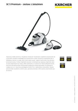 SC 5 Premium – zestaw z żelazkiem - kaercher