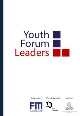 yfl workshops - Forum Młodych