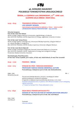 Kliknij, aby pobrać szczegółowy program 46. Kongresu Naukowego