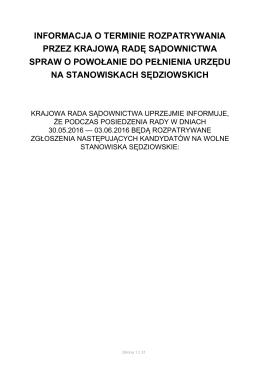 pobierz - Krajowa Rada Sądownictwa