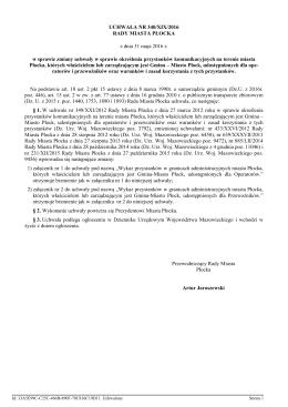 UCHWAŁA NR 340/XIX/2016 Rady Miasta Płocka z dnia 31 maja