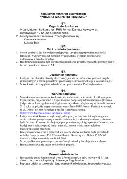 Regulamin konkursu - hurtownia