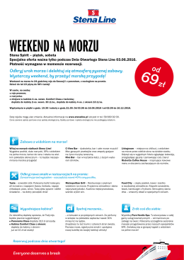 weekend na morzu