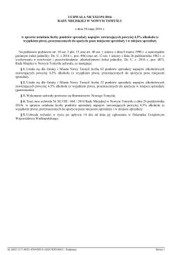 h) Uchwała Nr XXI/191/2016 w sprawie