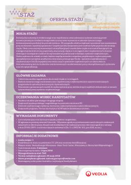 oferta stażu - Veolia term