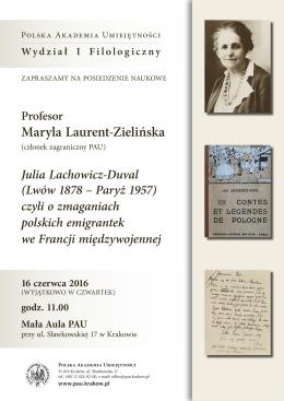 Zaproszenie/plakat - Polska Akademia Umiejętności
