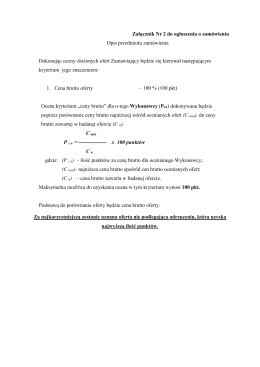 Załącznik Nr 2 - Opis przedmiotu zamówienia