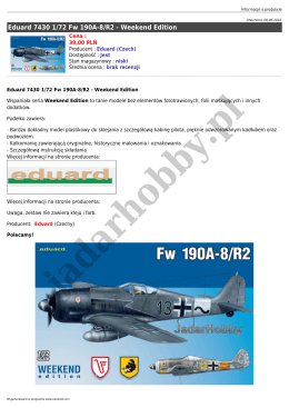 Eduard 7430 1/72 Fw 190A-8/R2 - Weekend Edition