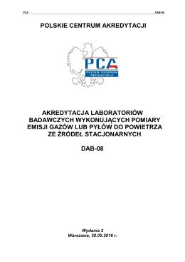 polskie centrum akredytacji akredytacja laboratoriów badawczych