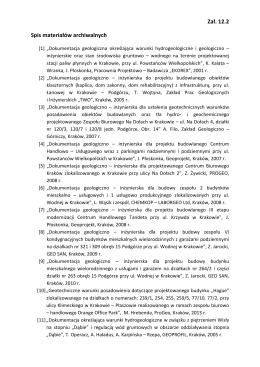 Załącznik nr 12.2 - spis materiałów archiwalnych