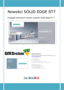 SE ST7 Opis nowości - podręcznik