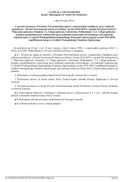 f) Uchwała Nr XXI/189/2016 w sprawie
