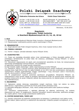 Regulamin Mistrzostw Polski Juniorów w szachach