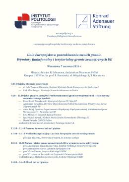 program - Instytut Politologii UKSW