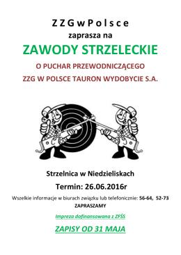 zawody strzeleckie - ZZG W POLSCE TAURON Wydobycie SA