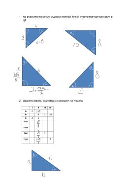 1. Na podstawie rysunków wyznacz wartości funkcji