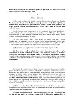 1 Platné znění příslušných částí zákona o úpadku a způsobech jeho