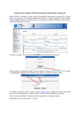 Stručný úvod k modulu VERSO – služby řešitelům