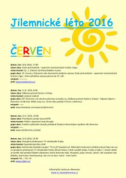 Jilemnické léto 2016 ČERVEN