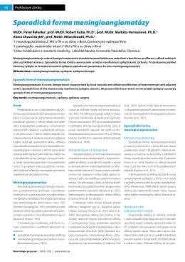 Sporadická forma meningioangiomatózy