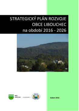 strategický plán rozvoje obce libouchec 2016-2026