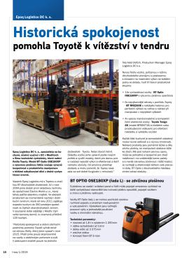 Historická spokojenost - Toyota Material Handling CZ s.r.o.