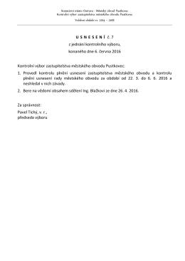 Usnesení č. 7 - Statutární město Ostrava