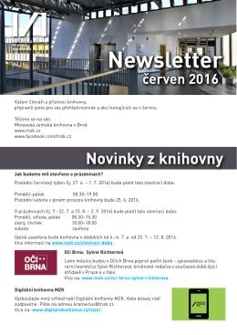 Newsletter - Moravská zemská knihovna v Brně
