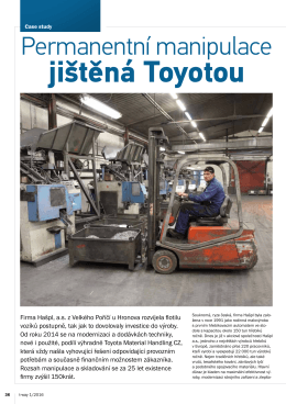 jištěná Toyotou - Toyota Material Handling CZ s.r.o.