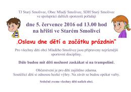 Dětský den ve Starém Smolivci 5. 7. 2016