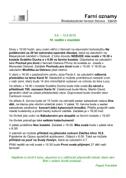 Poznámky 33 - Farnost Ostrava