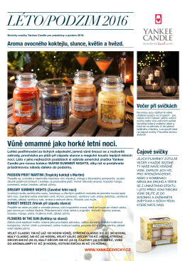 Yankee Candle Warm Summer Nights léto/podzim 2016