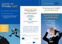Leták pro hostitelské podnikatele
