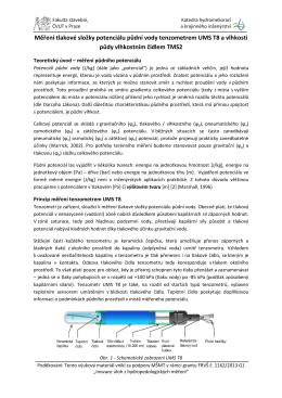 Měření tlakové složky potenciálu půdní vody tenzometrem UMS T8 a