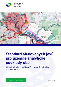 Standard sledovaných jevů pro územně analytické podklady obcí