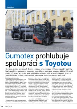Gumotex prohlubuje spolupráci s Toyotou