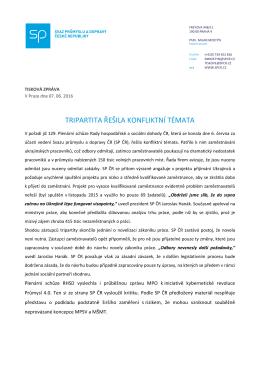 tiskové zprávě - Svaz průmyslu a dopravy České Republiky