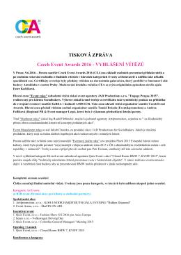 prohlédněte zde - Czech Event Awards